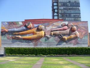 El pueblo a la universidad y la universidad al pueblo. David Alfaro Siqueiros, 1956. UNAM