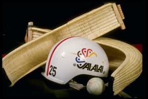 14 Nov 1989: General view of some of the equipment needed for a jai alai game in Tampa, Florida. Mandatory Credit: Scott Halleran /Allsport