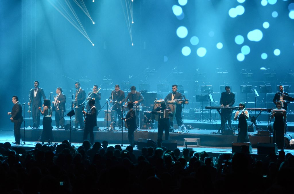CIUDAD DE MÉXICO, 05MARZO2016.- Ayer por la noche se presentaron Los Ángeles Azules en concierto como parte del Festival Starlite en el Hipódromo de Las Américas. FOTO: ANTONIO CRUZ /CUARTOSCURO.COM