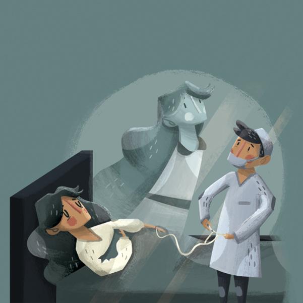 Tras la aprobación del derecho a la eutanasia o muerte digna, especialistas médicos temen que sea mal aplicada. Arte, Michel Laris.