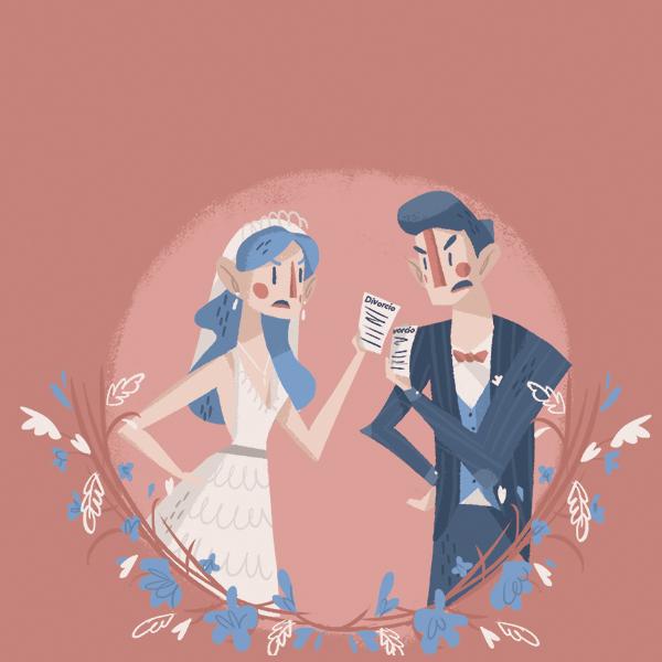 Desde 2017, ya no es necesario permanecer un año casados para tramitar un divorcio, el cual se puede solicitar incluso instantes después de la boda. Arte, Michel Laris.