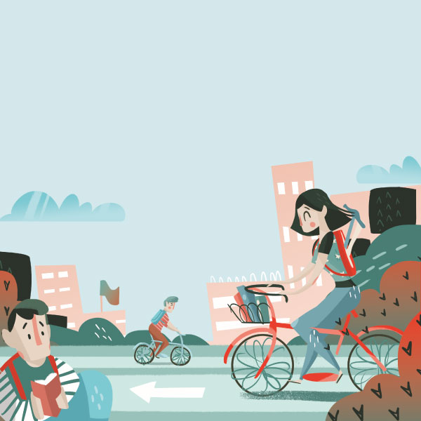 Estudiantes a prueba de bicis