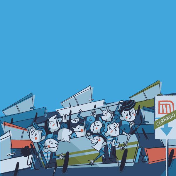 Si el metro colapsara, los pasajeros afectados