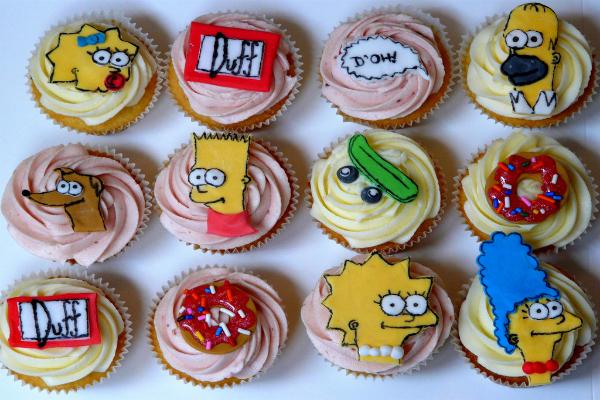 simpson cupcakes