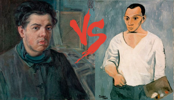 Rivera Picasso comparación