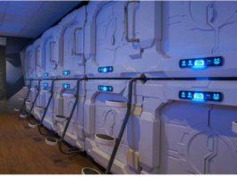 Cápsulas para dormir en el Aeropuerto Internacional de la Ciudad de México.