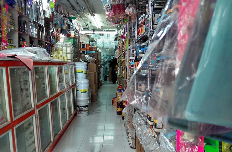 Las calles del centro donde venden materias primas