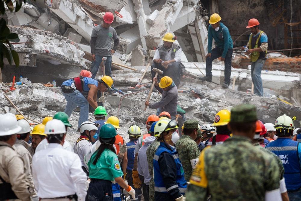 Una crónica de las horas siguientes al sismo del 19 de septiembre de 2017