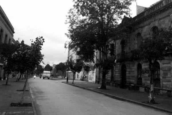La calle de la mujer herrada en el Centro Histórico.