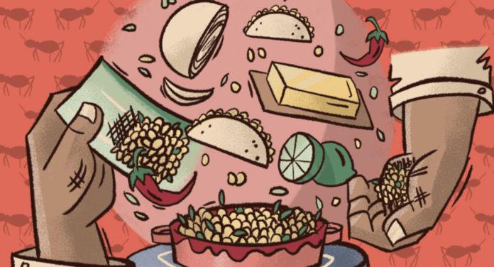 Comer escamoles en CDMX