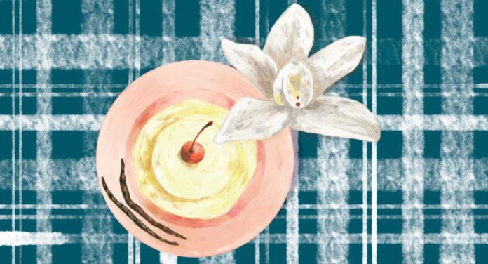 Vainilla orquídea comestible