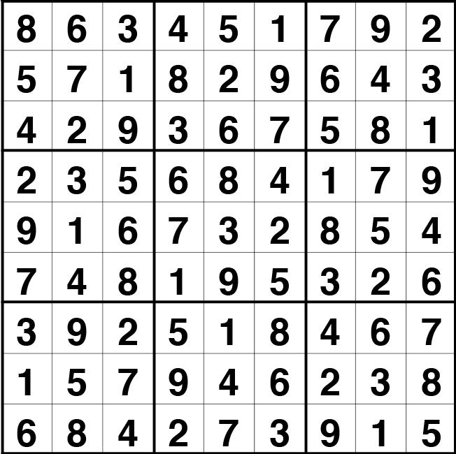 Solución sudoku: 17 mayo 2021