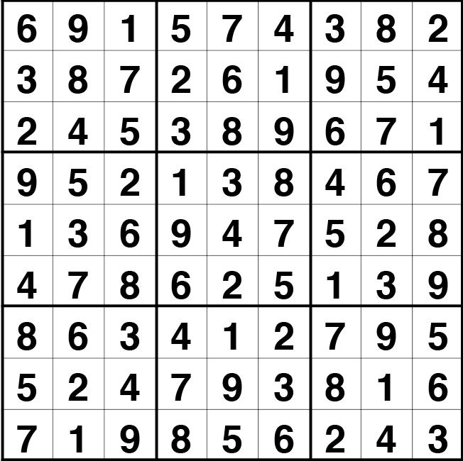 Solución sudoku: 14 mayo 2021
