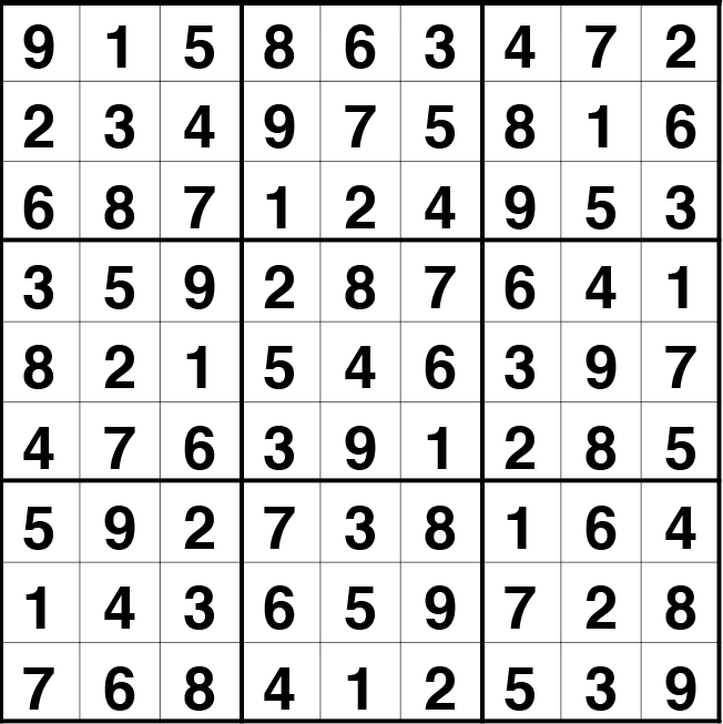 Solución sudoku: 19 julio 2021