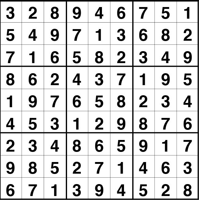 Solución sudoku: 20 julio 2021