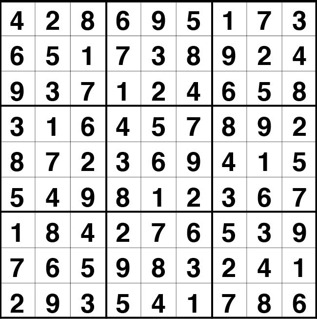 Solución sudoku: 21 julio 2021