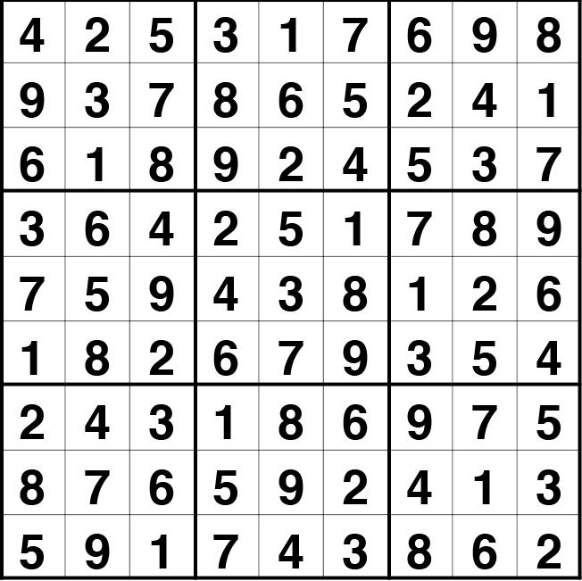 Solución sudoku: 18 octubre 2021