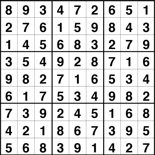 Solución sudoku: 20 octubre 2021