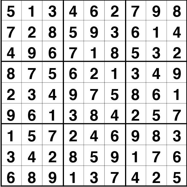 Solución sudoku: 26 octubre 2021
